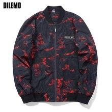 EU Size New Fashion Brand Clothing Bomber Jacket Men Casual Camouflage Windbreaker Mens Coat Mandarin Collar Men Jacket