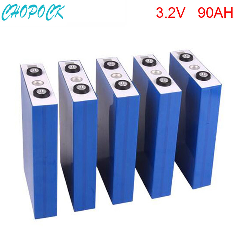 8pcs/lot deep cycle rechargeable lifepo4 battery 3.2v 90ah for solar power system/electric car/telecom/UPS