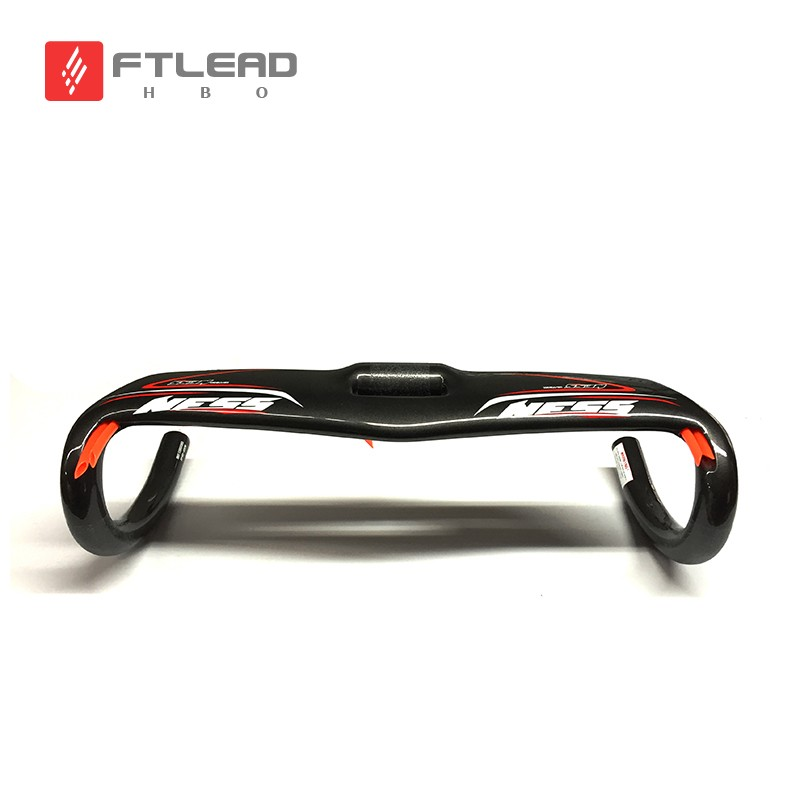 ФОТО  Full Carbon Fiber Bicycle Road Handlebar Bike Handle Bars Carbon Handlebar Road Bicycle Parts 400/420/440
