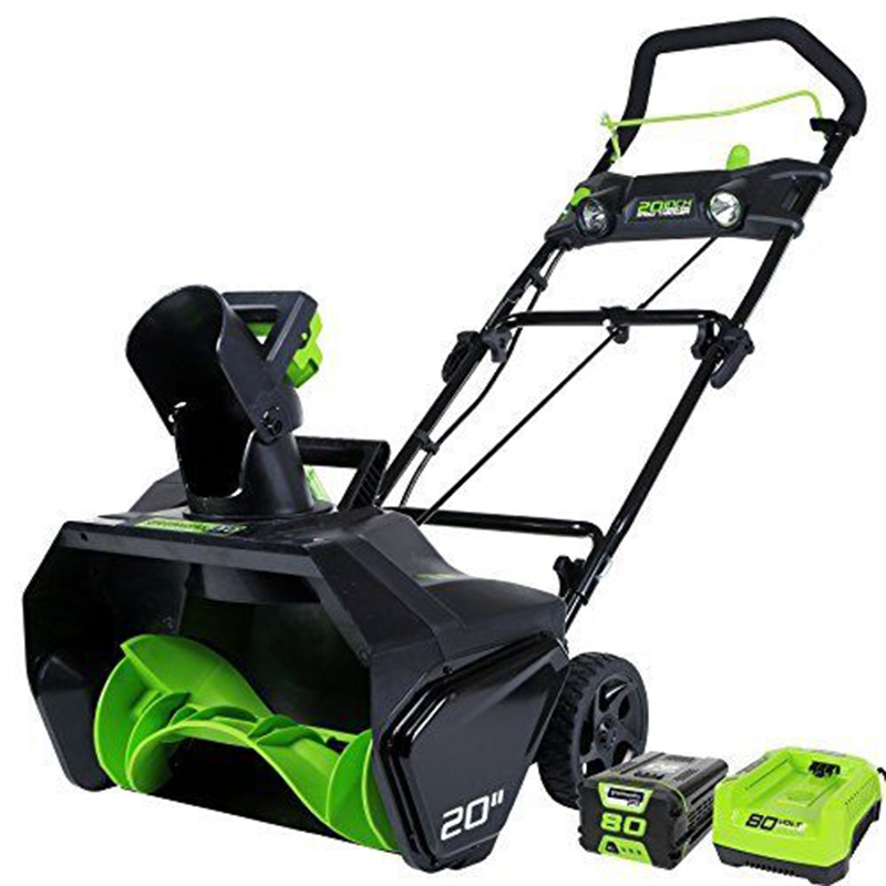 Greenworks PRO 20-Inch 80V Cordless Snow Thrower, 5.0 AH Battery Included