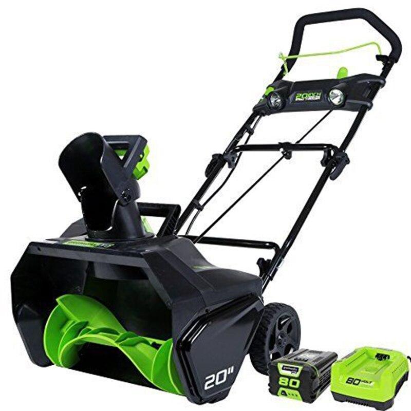 Greenworks PRO souffleuse à neige sans fil 20 pouces 80 V, batterie 5.0 AH incluse