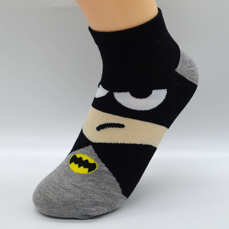 ALI shop ...  ... 32838129227 ... 4 ... 5 Pair/set Cartoon Superhero Women Socks Cotton Harajuku Kawaii Cute Fashion Girls Short Ankle Invisible Socks with Gift Bag ...