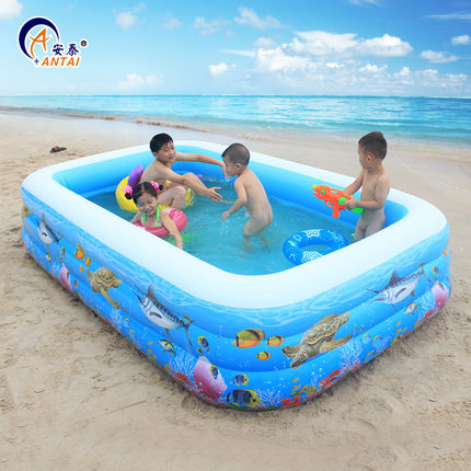 US $77.35 35% OFF|Household inflatable swimming pool inflatable pool baby  big children and children baby bath barrel portable rubber inflatable-in ...