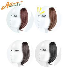 Allaosify Long Clip In on Front Hair Bang Side Fringe Hair E