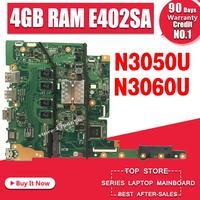 새로운! E402SA E502SA 마더 보드 4GB RAM N3050 N3060 ASUS E402 E502 E502SA E402S E502S 노트북 마더 보드
