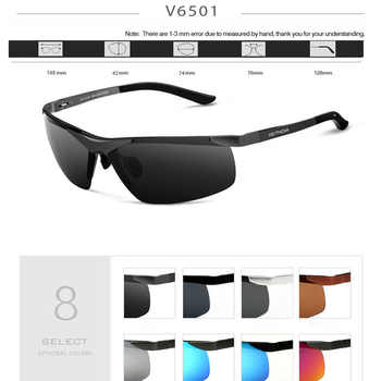 VEITHDIA 2020 Designer Men Sunglasses Aluminum Magnesium Polarized Lens Sun glasses Brand Male Glasses Eyewear For Men 6501