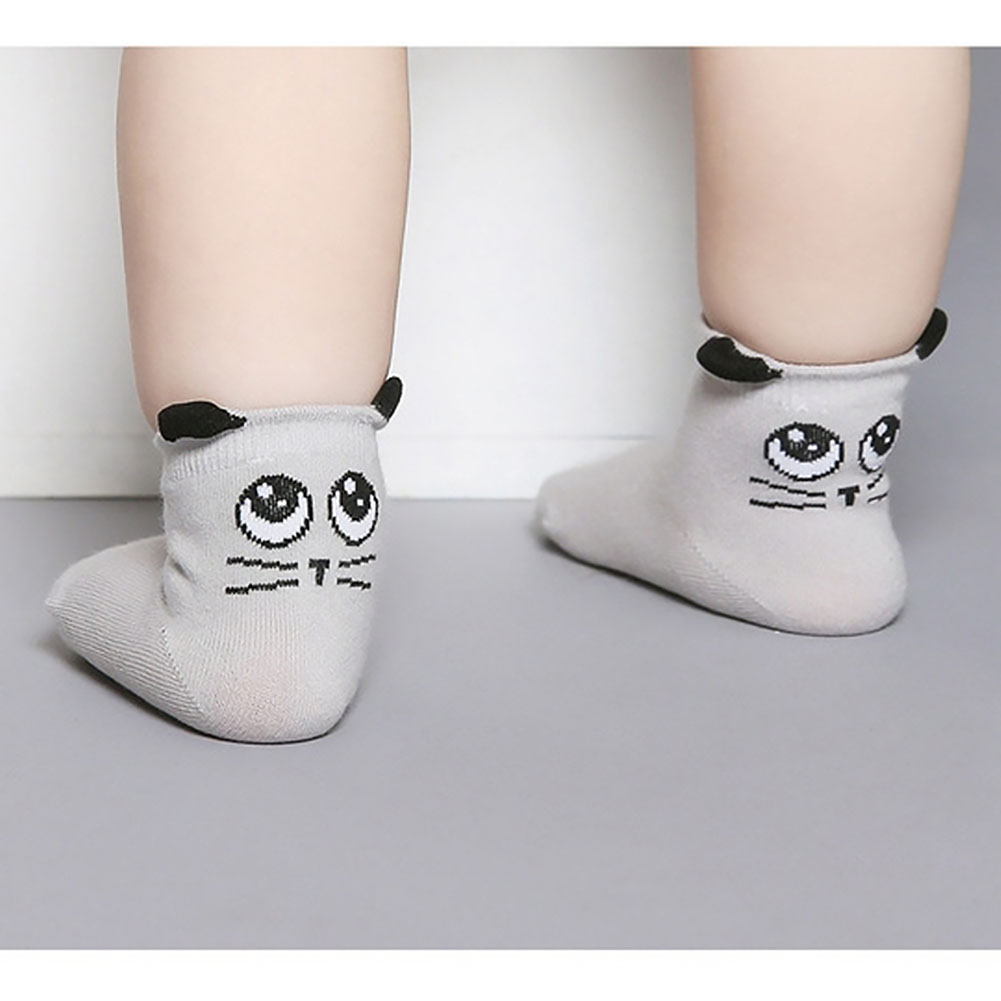 Baby Socks Cotton Cute Anti-slip Autumn Winter Asymmetry Spring Toddler Cartoon
