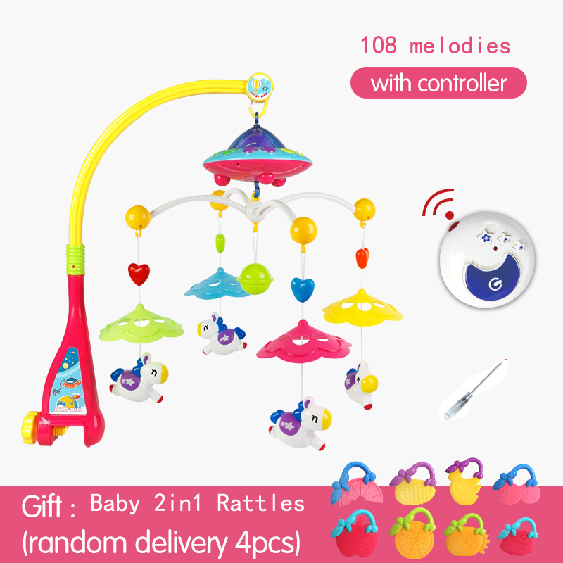 Huanger Baby bed bell toy rotating music hanging baby rattle bracket baby crib mobile holder shiloh 60 songs musical mobile baby crib rotating music box baby toys new multifunctional baby rattle toy baby mobile bed bell