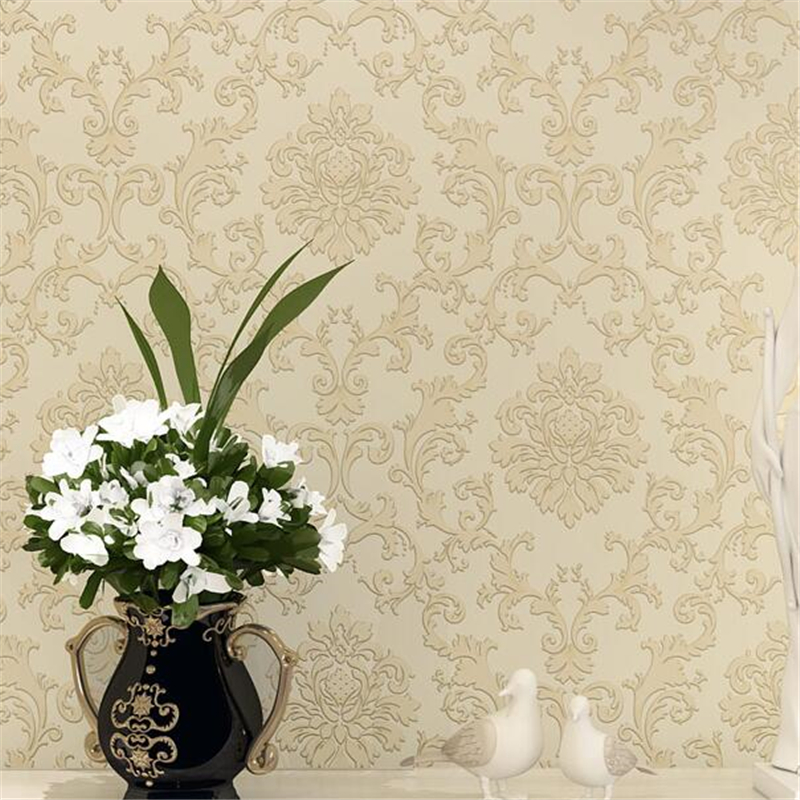beibehang papel parede Embossed European TV background wall living room non - woven wallpaper 3d wallpaper papier peint large mural papel de parede european nostalgia abstract flower and bird wallpaper living room sofa tv wall bedroom 3d wallpaper
