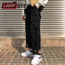 LAPPSTER Streetwear Cargo Pants Women 2019 Wide Leg Vintage Harem Pants Black Korean