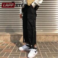 LAPPSTER Streetwear Cargo Pants Women 2019 Women Wide Leg Vintage Harem Pants Black Korean Pink Overalls Joggers Pants Trousers