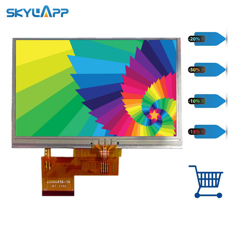 Skylarpu <font><b>5</b></font> inch TFT LCD Screen for GARMIN Nuvi <font><b>2470</b></font> 2470T display Screen panel with Touch screen digitizer Free shipping image