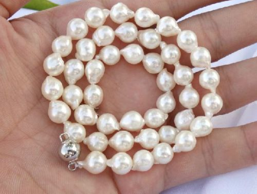 100% Selling Picture full classic 1812-13MM SOUTH SEA BAROQUE NATURAL WHITE PEARL NECKLACE100% Selling Picture full classic 1812-13MM SOUTH SEA BAROQUE NATURAL WHITE PEARL NECKLACE