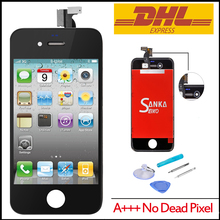 10PCS For iPhone 4 GSM  Replacement LCD Touch Screen Lens Display Assembly & Repair Tool BY DHL Shipping