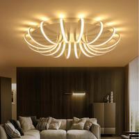 Modern Ceiling Lights White Black Design Kitchen Lamps Lampara De Techo Living Dining Bedroom Light Foyer