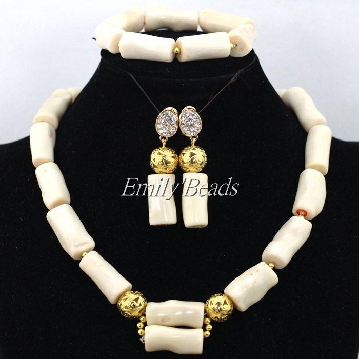 2016 New Genuine Coral Beads Necklace Jewelry Nigerian Wedding ...