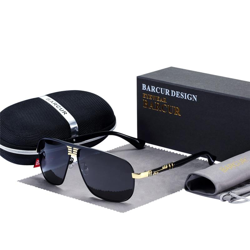 Óculos de Sol Motorista do Sexo Proteger com Caixa de Acessórios Barcur da5e6169d7