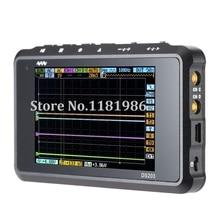 Mini Nano ARM DSO203 DS203 Osciloscopio Digital Portátil 8 MHz de ancho de Banda de 4 Canales Arm Cortex M3 CPU con Aluminio Metro caso