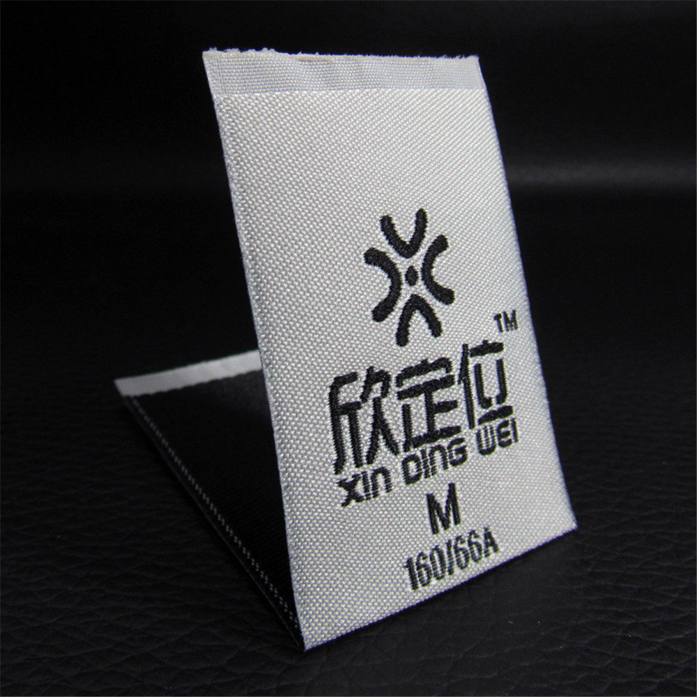 US $52 0 |Custom Garment Spun Yarn Labels with Embroidered Process Loop  Fold Woven Labels Sewing Clothing Labels Tags 1000pcs-in Garment Labels  from