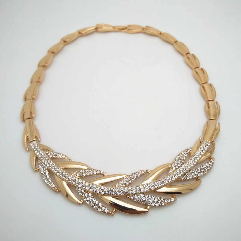 ממלכת Ma ניגרית חרוזים חתונה תכשיטי סט כלה דובאי זהב צבע תכשיטי סטים אפריקאי חרוזים שרשרת צמיד תכשיטי סט
