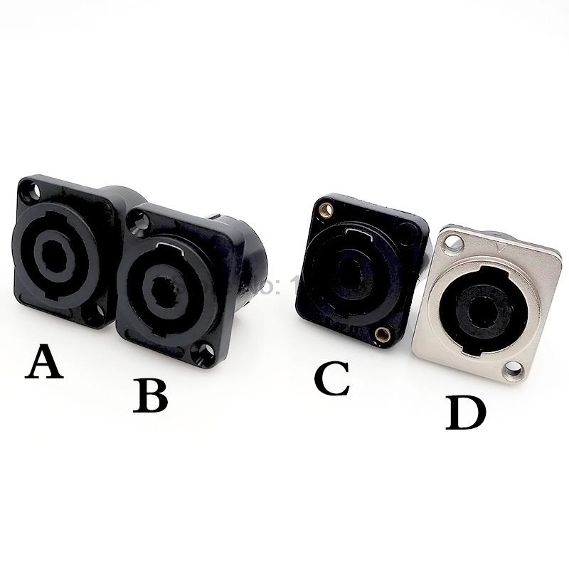 Speakon Connectors socket plug nl4fc type 4 pole speaker connector speakon connector neutrik type nl4fx 4 pole plug male speaker audio 4 pin connector led connector