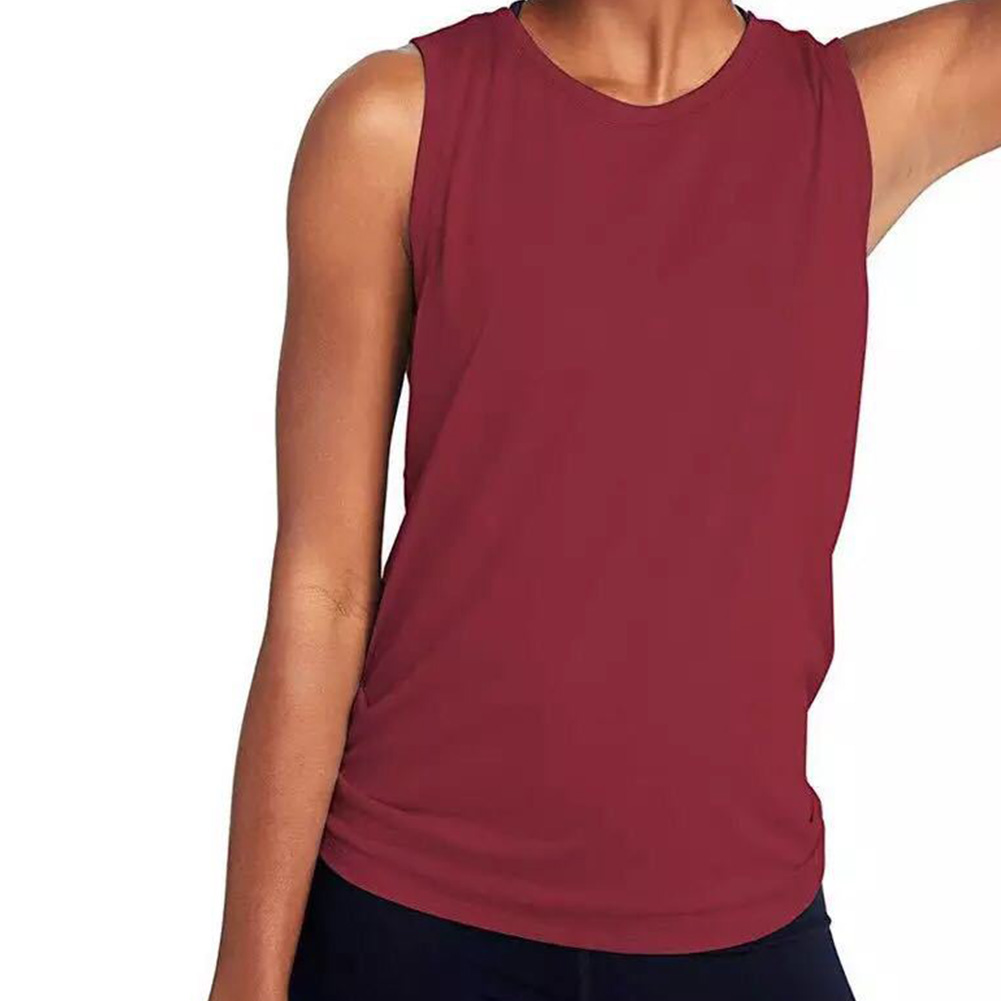 Helpful Back Mesh Tank Top Women Vest Activewear Cute Solid Sexy Sleeveless Summer Casual Daily Fitness Crew Neck Yoga Sports T-shirt Lovely Luster