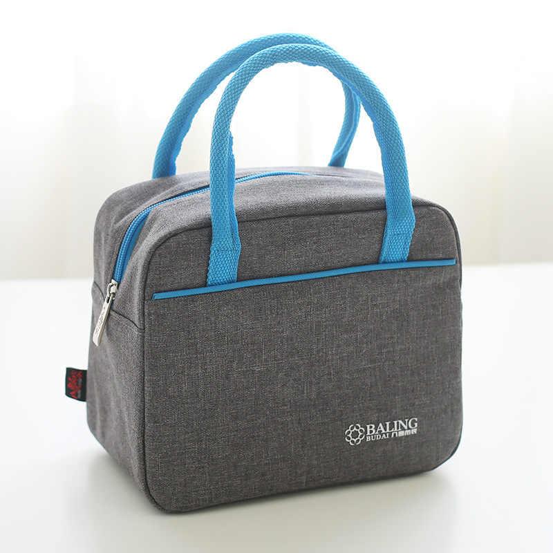 15106ed3456c Новое качество обед тепловой сумку для пикника Оксфорд Текстильная сумка- холодильник или мешок термо питания