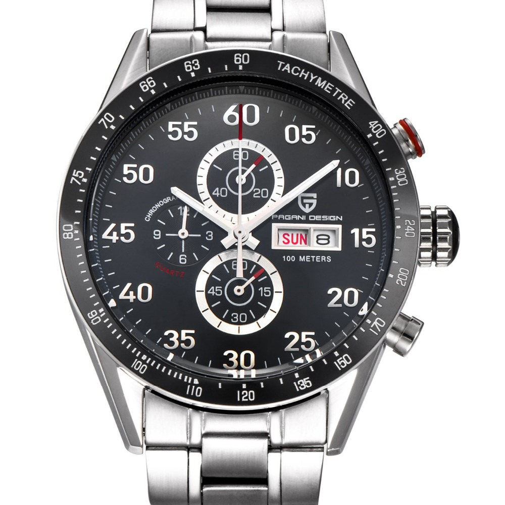 ФОТО Original Brand PAGANI DESIGN Watches Men Sports Military Quartz Watch Fashion Dive Chronograph Wristwatch Relogio Masculino 2017