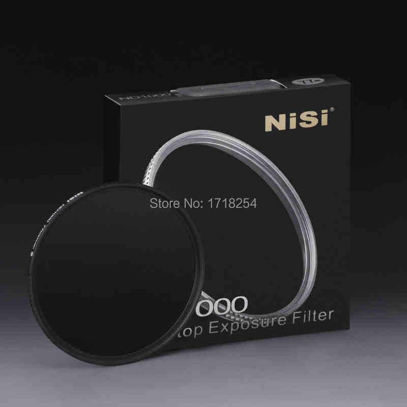 NiSi 58mm ND1000 Ultra Thin Neutral Density Filter 10 Stop for Digital SLR Camera ND 1000 58mm Slim Lens Filters 3pcs lot 58mm neutral density nd2 nd4 nd8 filter set 58 mm camera lens nd filtros for canon 600d 550d 450d rebel t4i t3 18 55mm