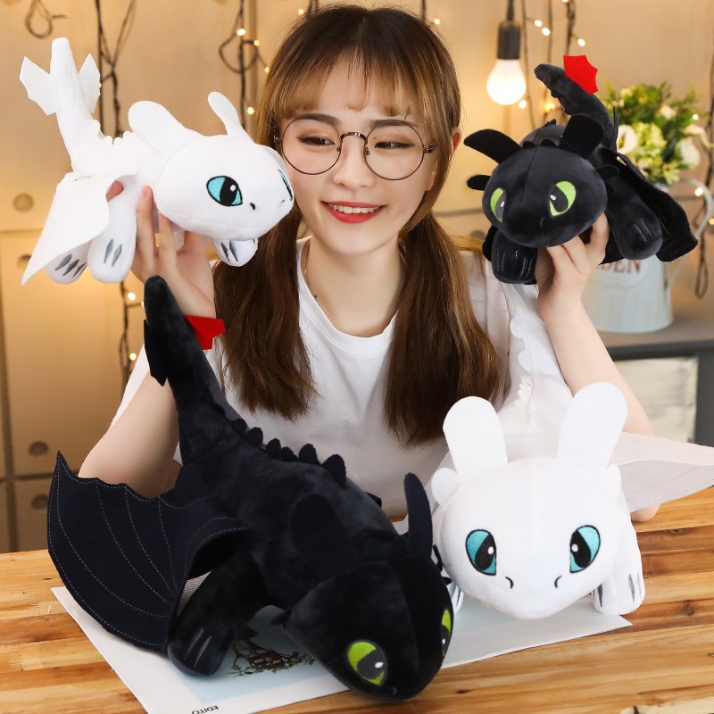 35cm 45cm 60cm How To Train Your Dragon 3 Toothless Anime Figure Night Fury Light Fury Toys Dragon Plush Doll Toys For Children
