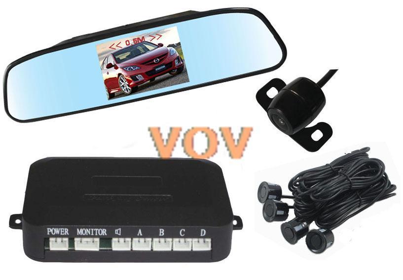 Бесплатная доставка! 4.3 дюймов TFT жк-монитора автомобиля с парковки датчика 4 price рейдер с автомобиля обратный резервный камера! NO.604