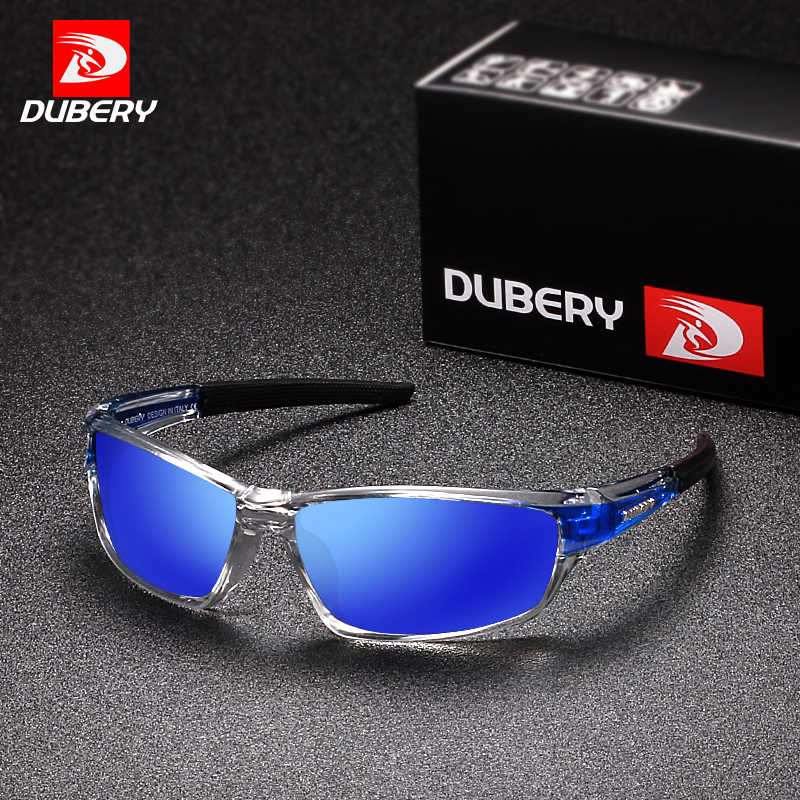 DUBERY Sunglasses Men's Polarized Driving Sport Sun Glasses For Men Women Square Color Mirror  Luxury Brand Designer 2017