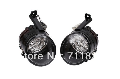 LED Powered Front Fog Lights Bright White Color For VW New Caddy projector lens front fog lights for vw new caddy