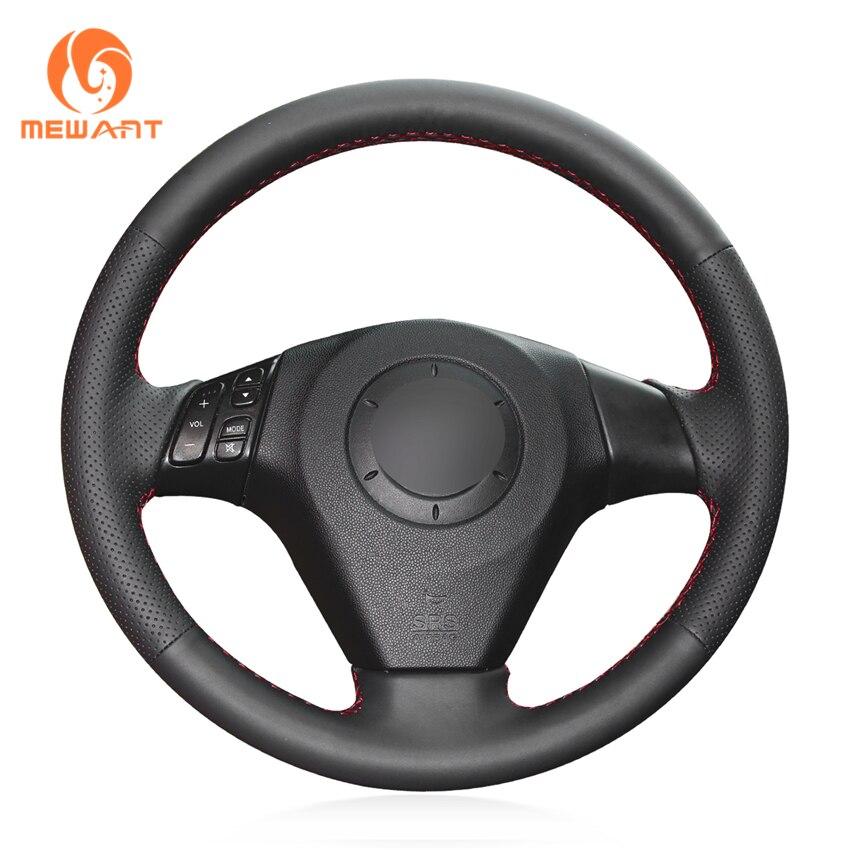 MEWANT Noir Artificielle En Cuir Couverture De Volant de Voiture pour Mazda 3 Axela 2003-2009 Mazda 6 Atenza 2004- 2008 Mazda 5 2004-2010