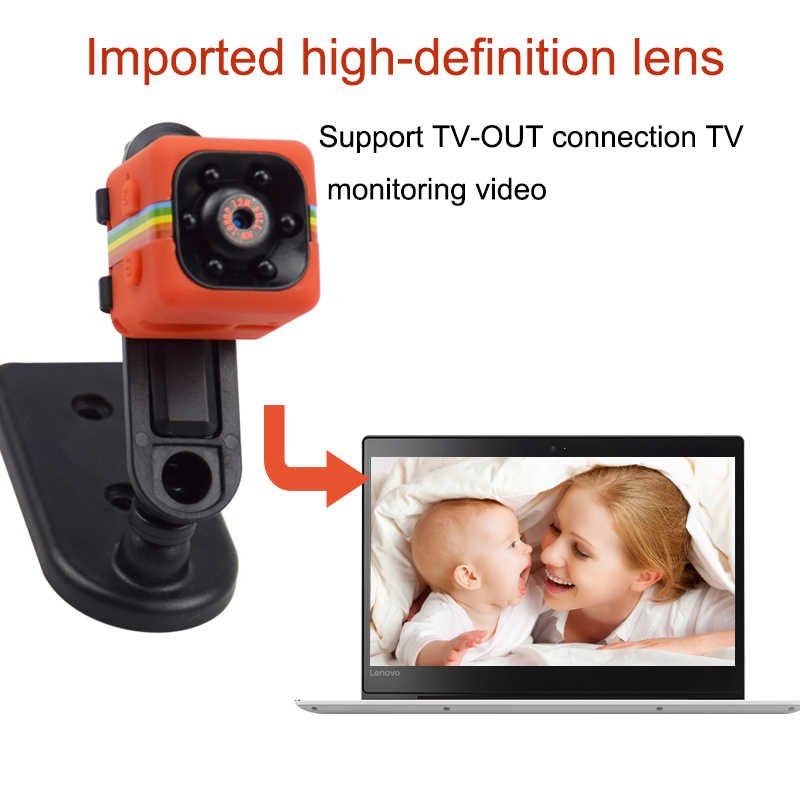 SQ11 Mini Camera 1080p Home Security Infrared Night Vision Camera Monitor Concealed Video Camera