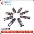 6 unids/pack SRX882 NiceRF 433 MHz Superheterodino Ask RF Módulo Inalámbrico con antena primavera