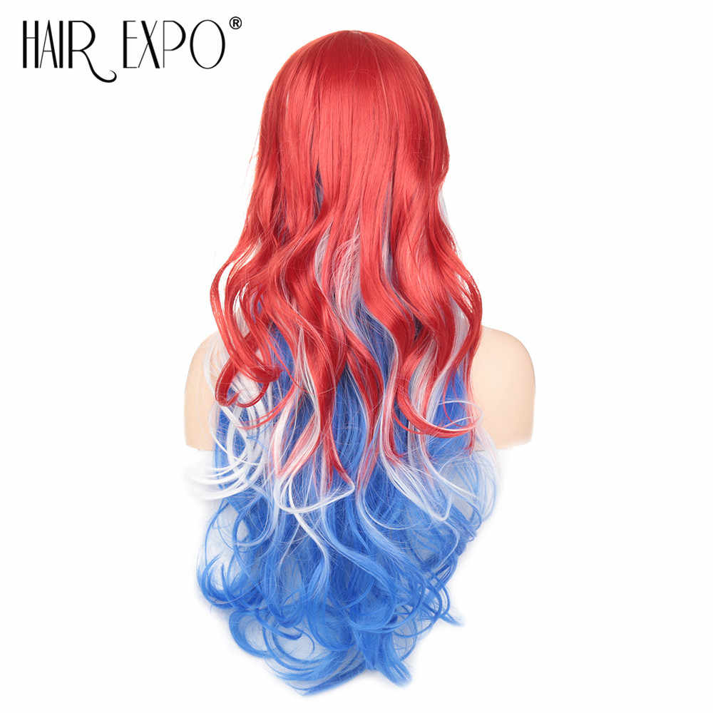 Волосы Экспо город Косплей Аниме парик синтетические волосы длинные волнистые имитация челок костюм вечерние комбинезоны Необычные Хэллоуин парик африканские женщины