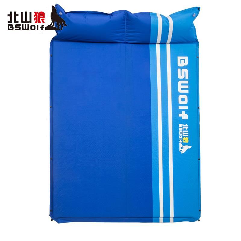 цена на BSWolf Wild Camping Mat Outdoor Double Automatic Inflatable Cushion Moisture-proof Tent Pad Comfortable Travel Air Mattress
