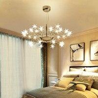 Звездное небо светодиодный подвесной светильник современная светодиодная лампа Starlight Ледяной цветок подвесные лампы для Гостиная Кабинет
