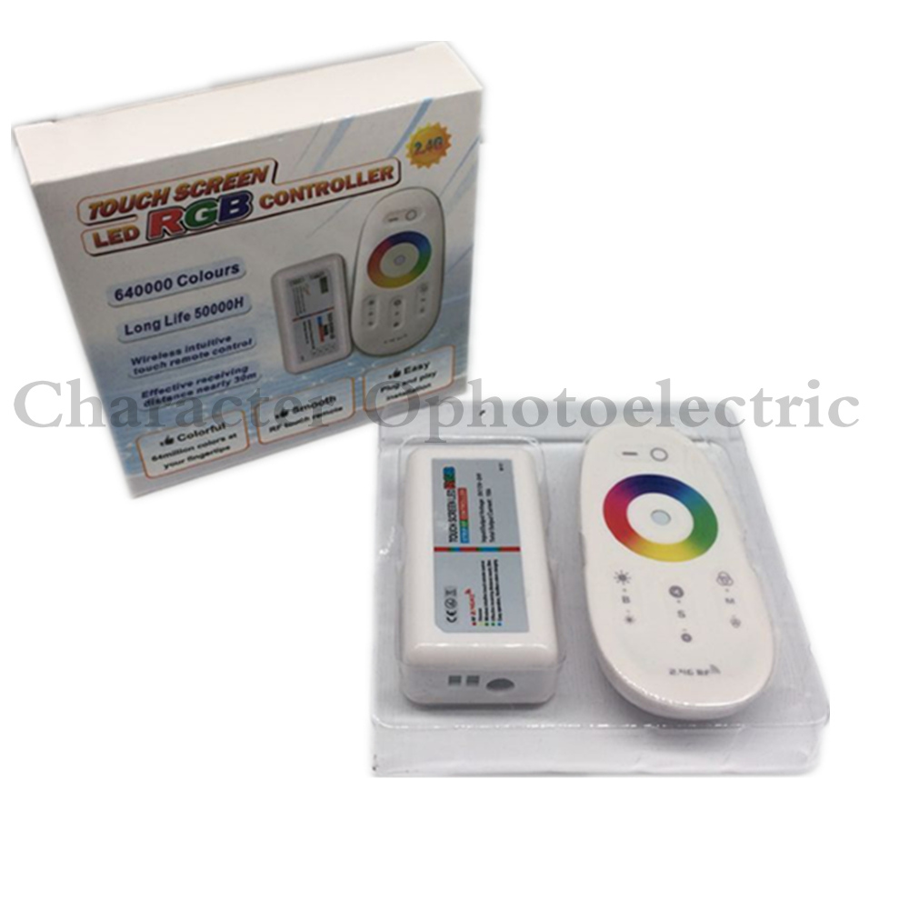2.4G RF Wireless full touching screen LED RGB Remote Controller 12V/24V WiFi Compatible for 5050/3528 RGB led strip2.4G RF Wireless full touching screen LED RGB Remote Controller 12V/24V WiFi Compatible for 5050/3528 RGB led strip