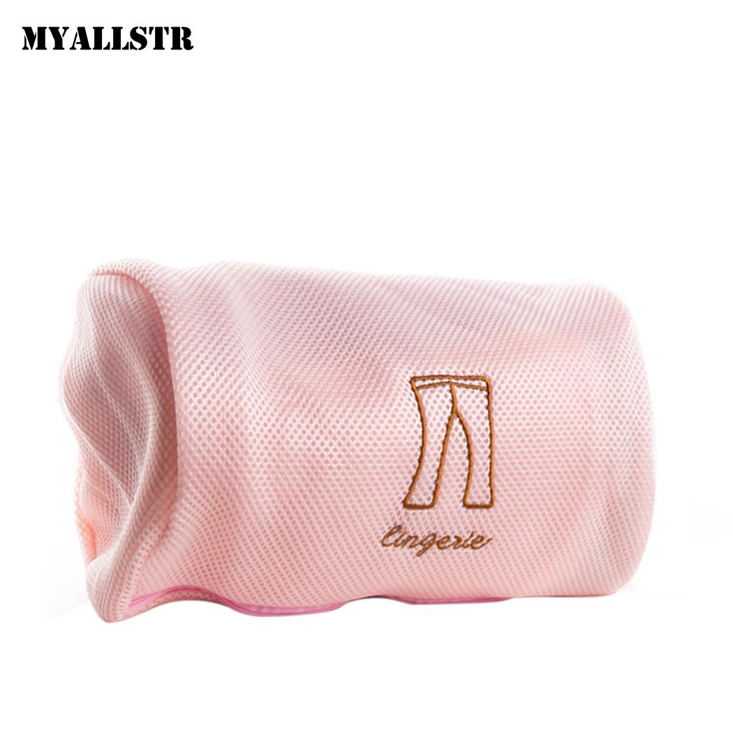Durable Portable Lightweight Print Zipper Closure Home Mesh Laundry As Picture Wash Bag