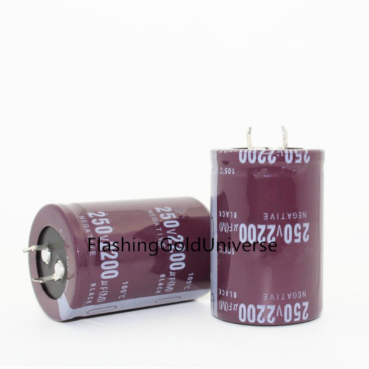12PCS--2PCS 2200UF 250V 250V 2200UF   Capacitance  Electrolytic Capacitors 35*50mm Best Quality