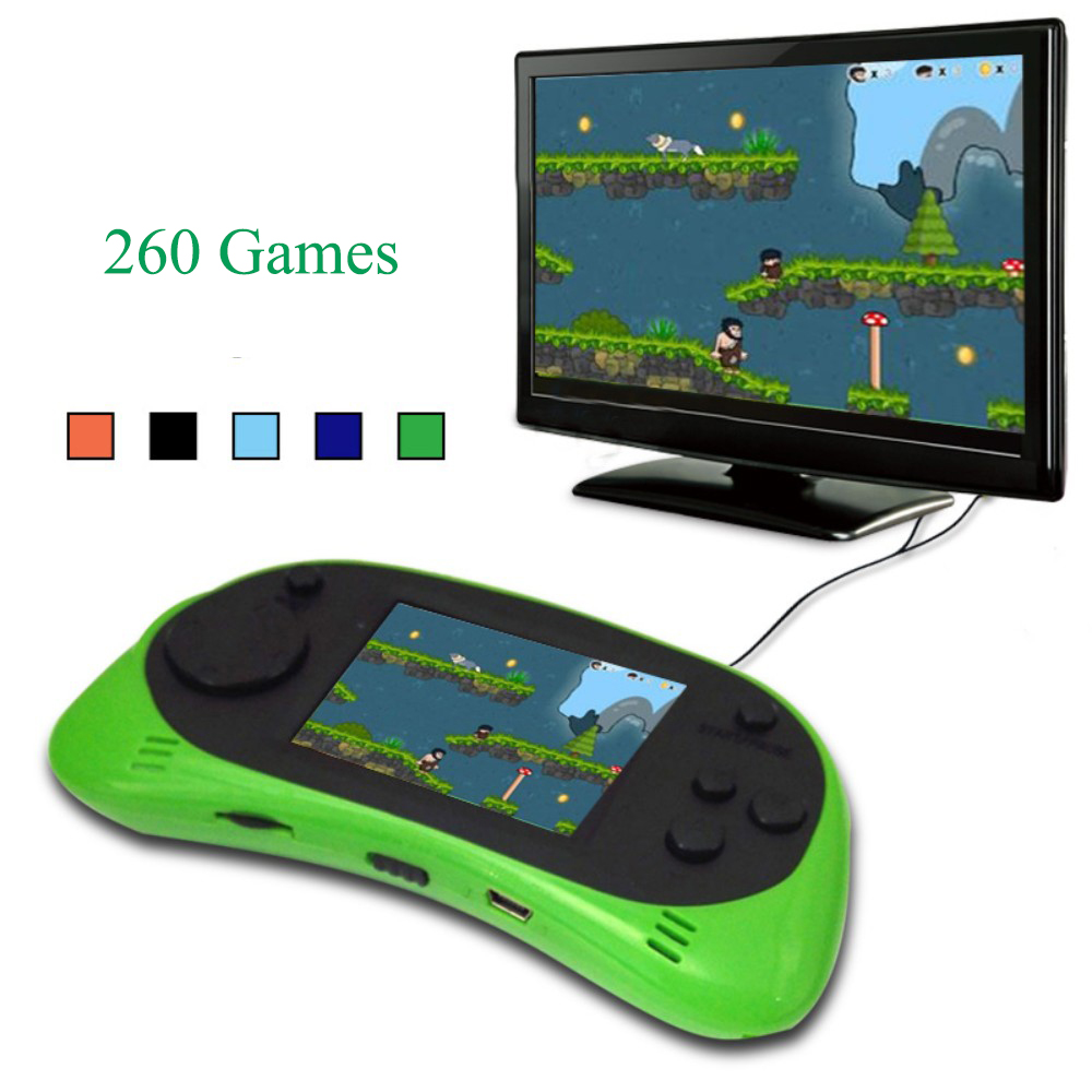 Retro Classic Mini Handheld Game Player 2.5 inch TFT Screen 8 Bit Video Gaming Console Kids Built-in 260 Games Support TV Output