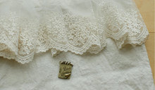 Cotton thread floral embroidery lace trim with snowflake , scalloped lace trim at 10 cm wide white black beige color scalloped trim lace panty