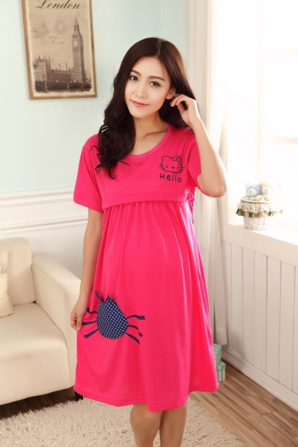 Cute Knee length Casual Nursing Dress for Breast-feeding | Spring 2017 Collections