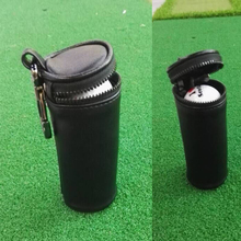 High Qualitly Waterproof PU Leather Mini Golf Ball Bag for 3 Pcs Golf Ball Golf Bag Part Accessories Gift