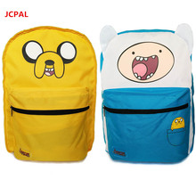 Original Abenteuer Zeit Rucksack Tasche Finn und Jake Doppelseitige Schultaschen für Jungen Mädchen Casual Schultasche Rucksack