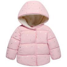 Boże narodzenie parki dla dziewczynki niemowlę kurtka dla dzieci dzieci jesień zima odzież wierzchnia dziewczyny ciepła kurtka z kapturem Snowsuit tanie tanio bibihou COTTON NYLON Moda 0 4kg Czesankowej Polka dot REGULAR Pojedyncze piersi FC071 Star Pasuje mniejszy niż zwykle proszę sprawdzić ten sklep jest dobór informacji