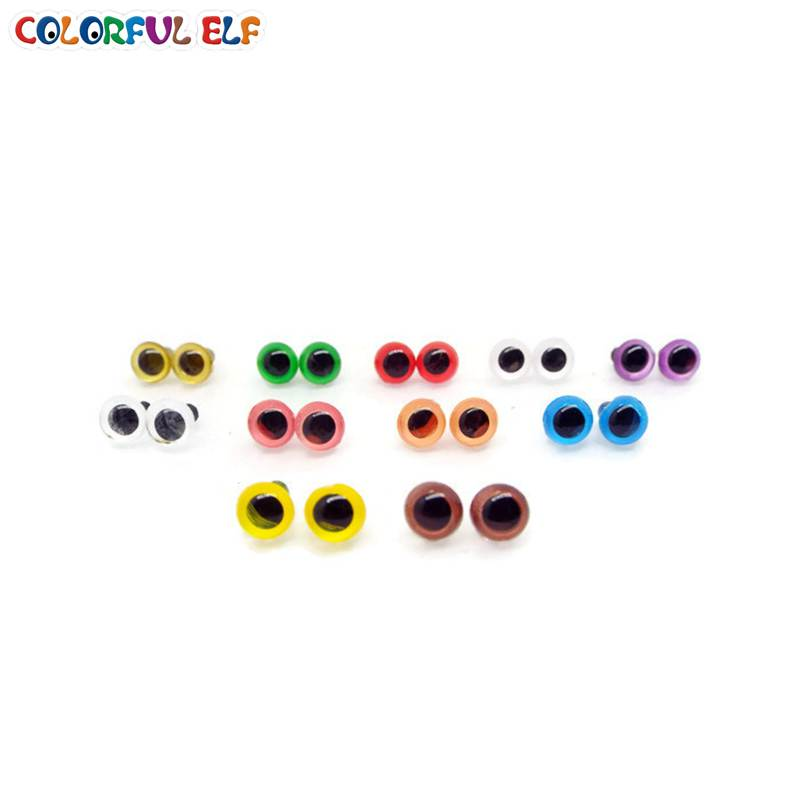 free shipping!!! 100pcs/lot 6mm Doll eyes/Colorful Toy eyes - Dolls and Stuffed Toys