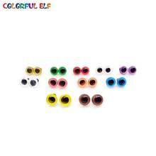 ¡¡¡envío gratis!!! 100pcs / lot 6mm Doll eyes / Colorful Toy eyes ojos de seguridad de color al por mayor / mezclado con accesorios de juguete de arandela
